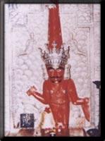Picture of Newly built temple having Shri Padamprabh Bhagwan's idol as the moolnayak, restablished in VNS 2443 (VS 1974) by the honarary hands of Acharyadev Shri